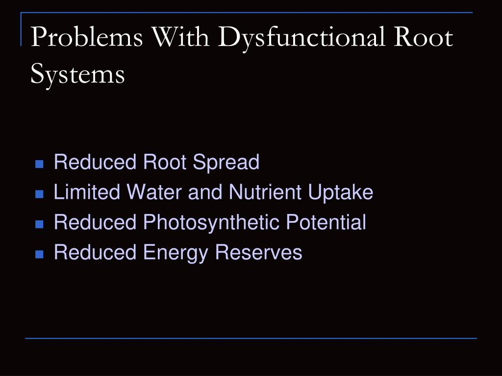 Problems With Dysfunctional Root Systems