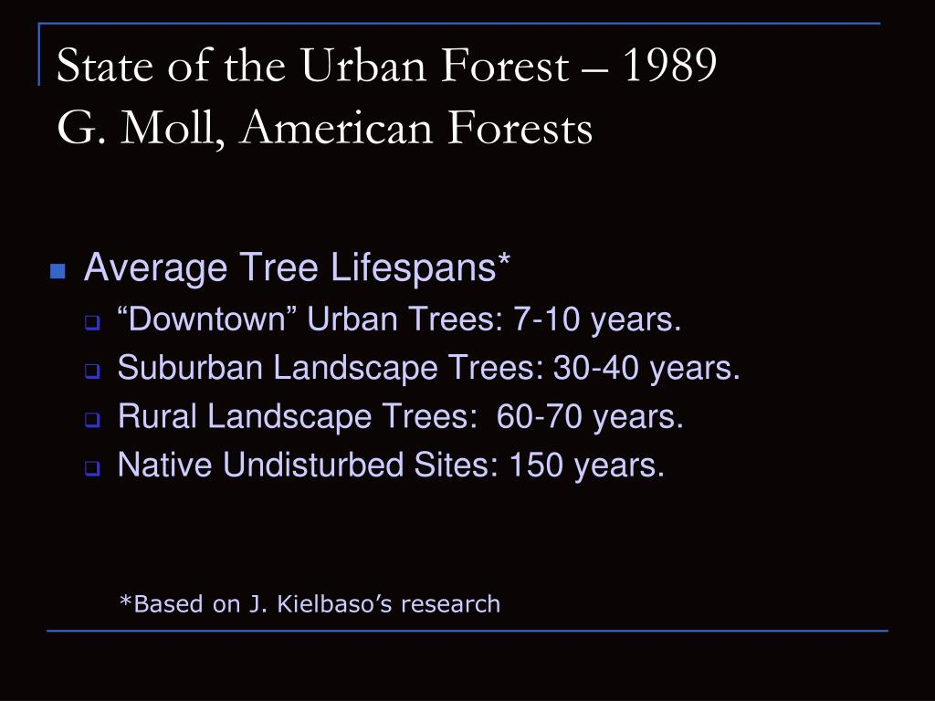 State of the Urban Forest – 1989