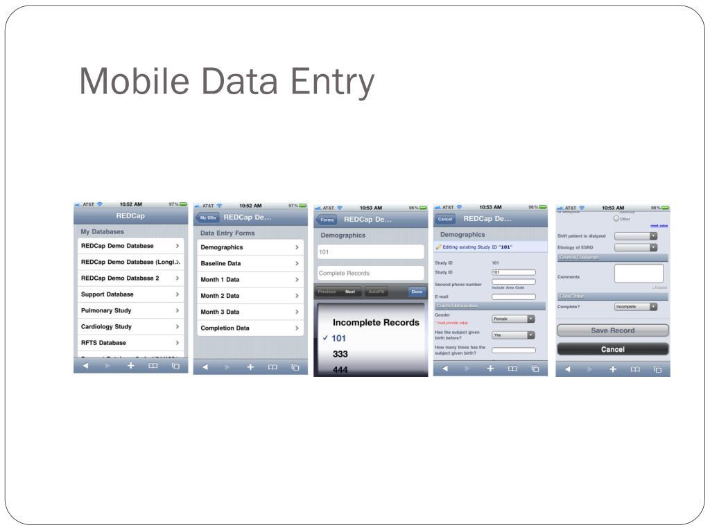 Mobile Data Entry