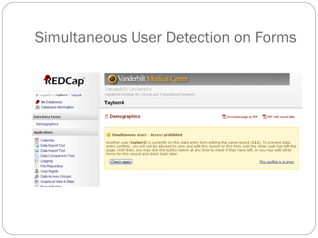 Simultaneous User Detection on Forms