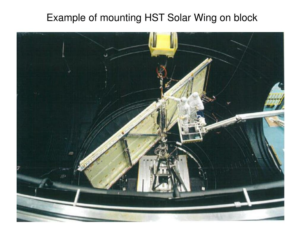 Example of mounting HST Solar Wing on block