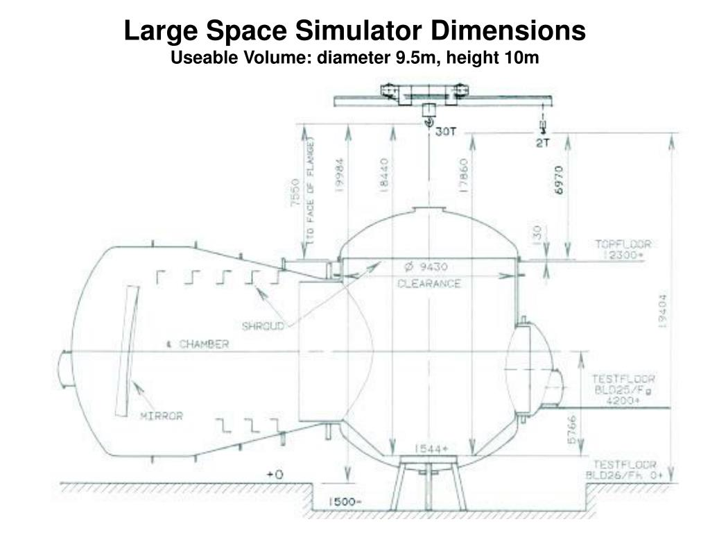 Large Space Simulator Dimensions