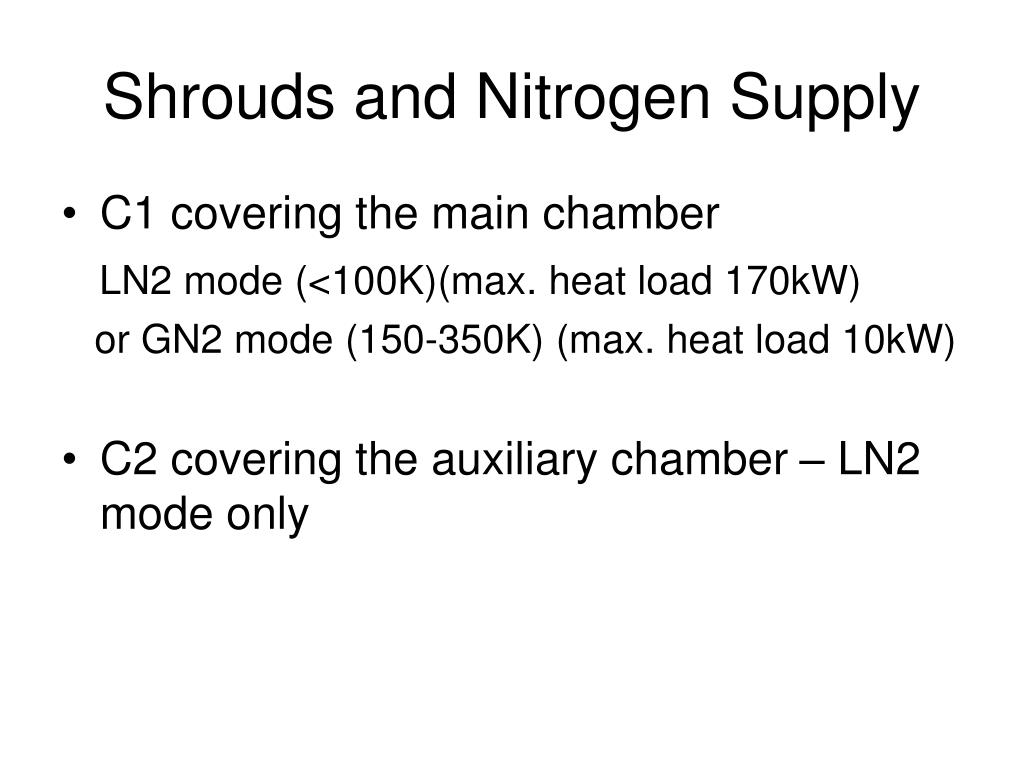 Shrouds and Nitrogen Supply