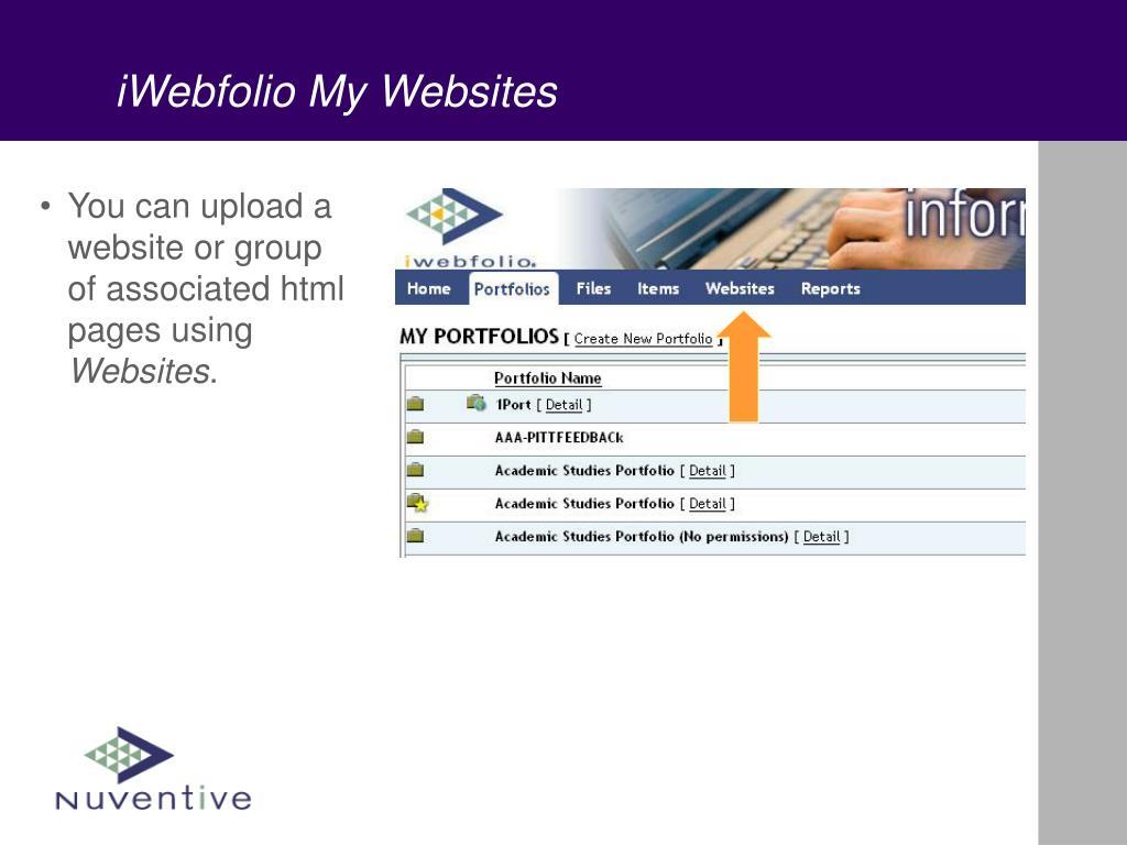 iWebfolio My Websites