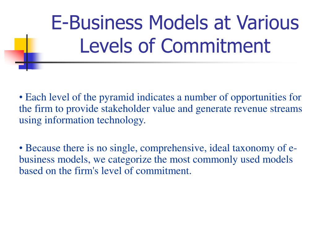 E-Business Models at Various Levels of Commitment