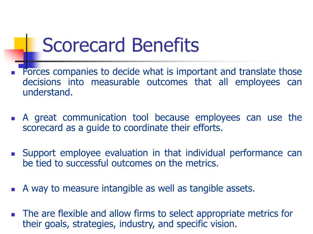 Scorecard Benefits