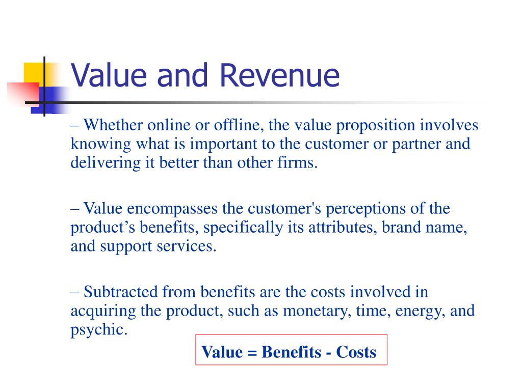 Value and Revenue