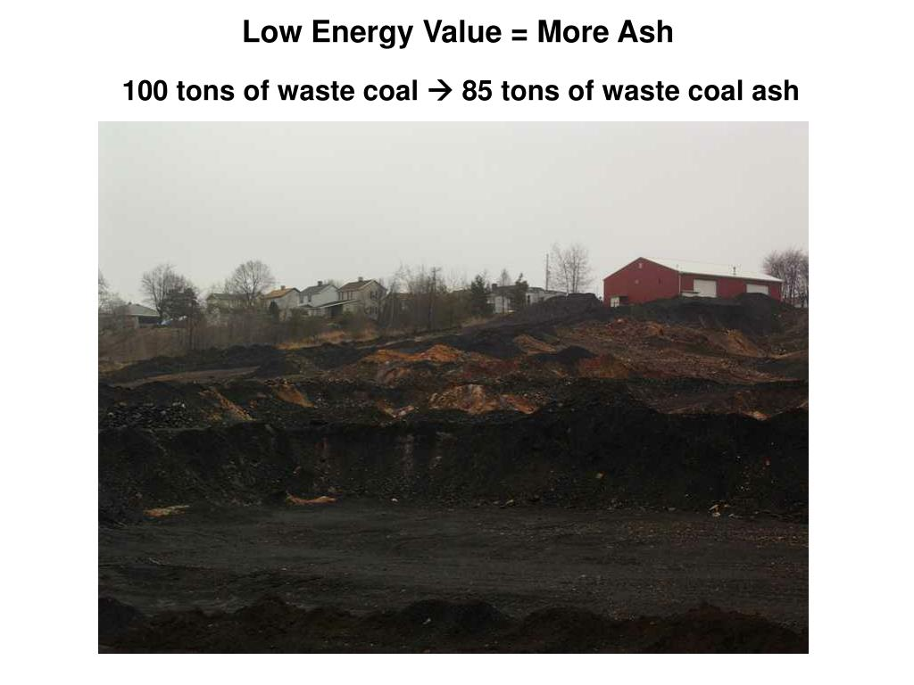 Low Energy Value = More Ash