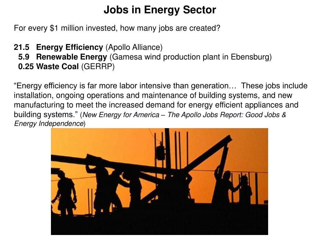 Jobs in Energy Sector