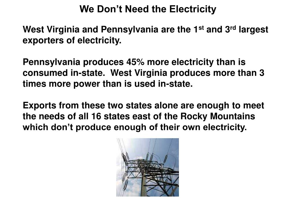 We Don't Need the Electricity