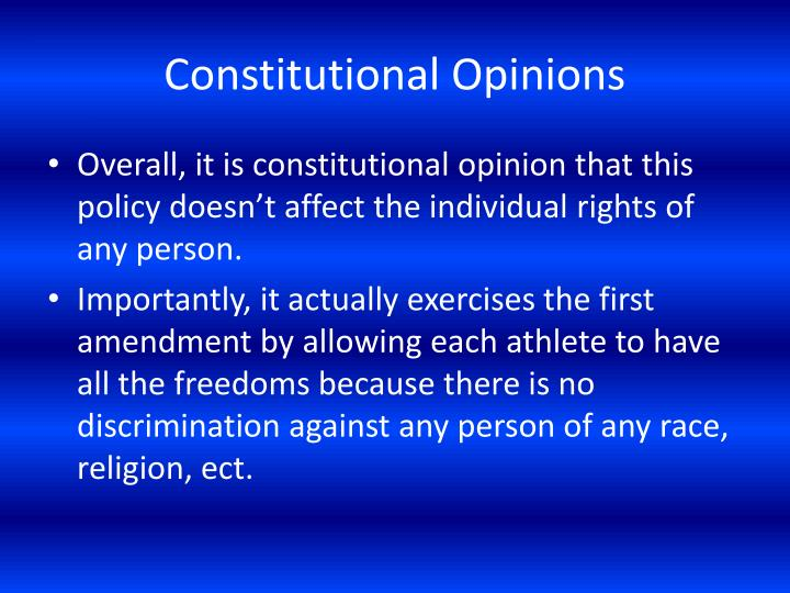 Constitutional Opinions