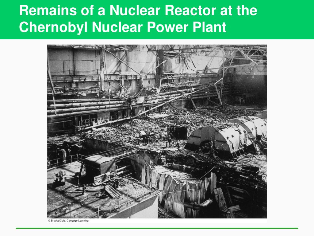 Remains of a Nuclear Reactor at the Chernobyl Nuclear Power Plant