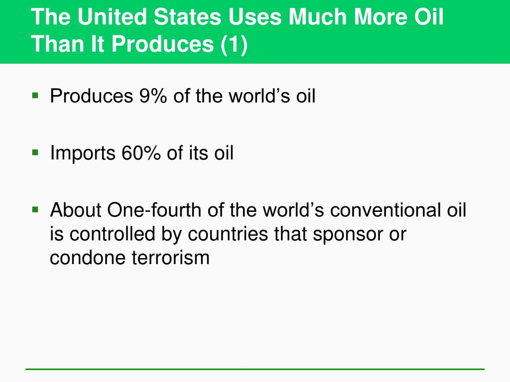 The United States Uses Much More Oil Than It Produces (1)
