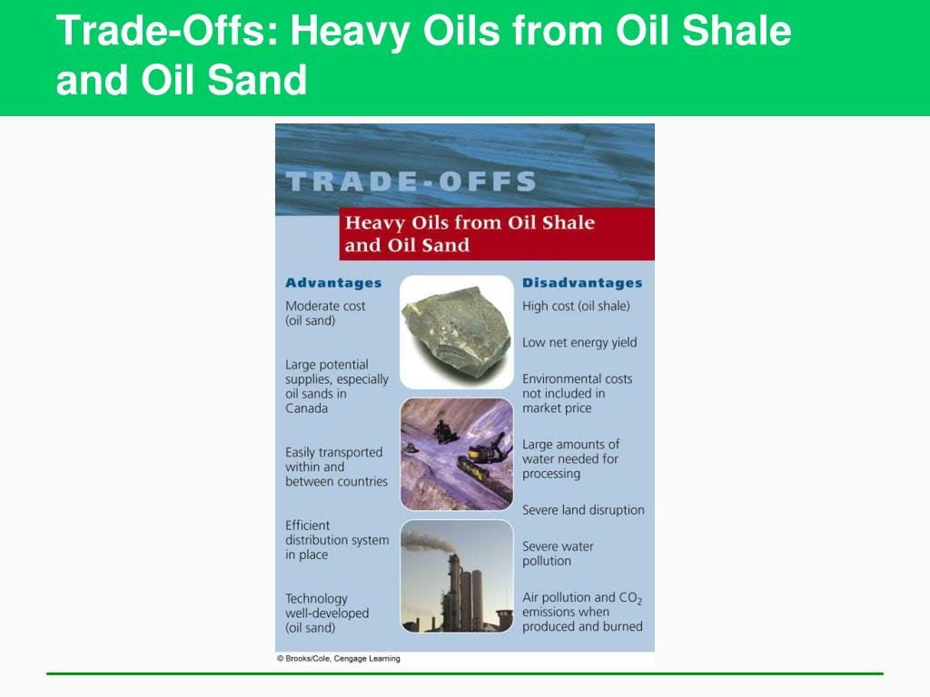 Trade-Offs: Heavy Oils from Oil Shale and Oil Sand