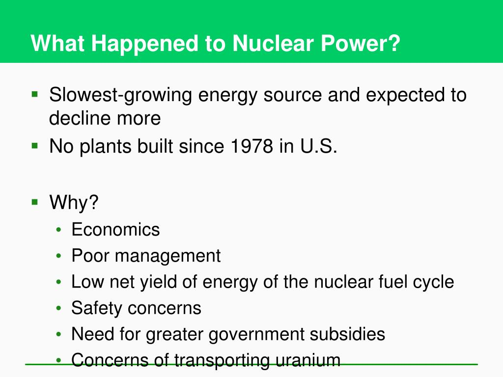 What Happened to Nuclear Power?