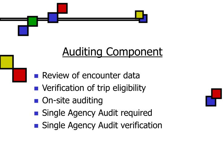 Auditing Component