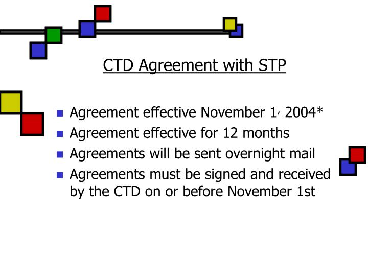 CTD Agreement with STP