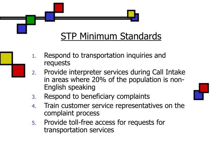 STP Minimum Standards