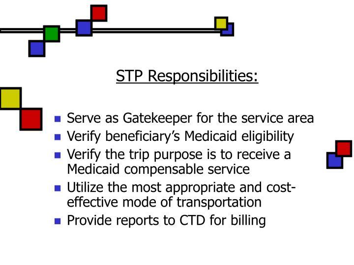 STP Responsibilities: