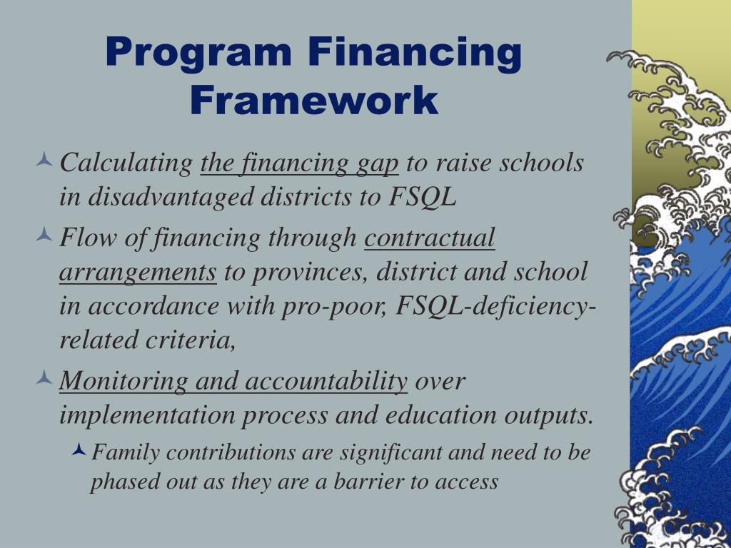 Program Financing Framework