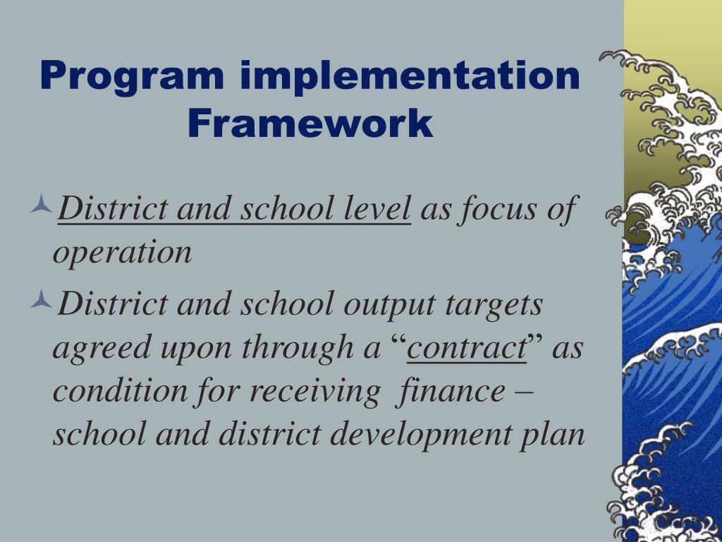 Program implementation Framework