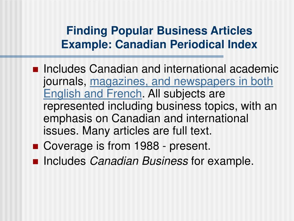 Finding Popular Business Articles