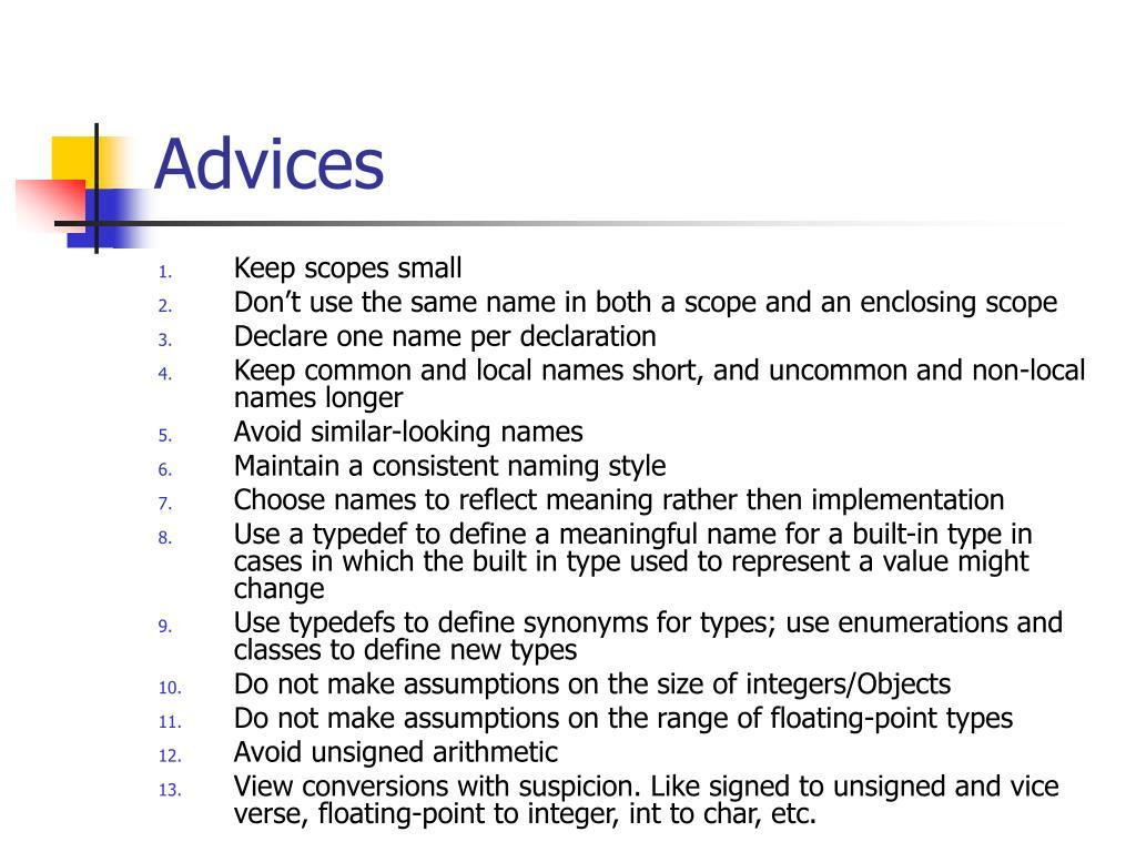 Advices