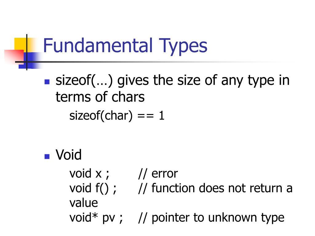 Fundamental Types