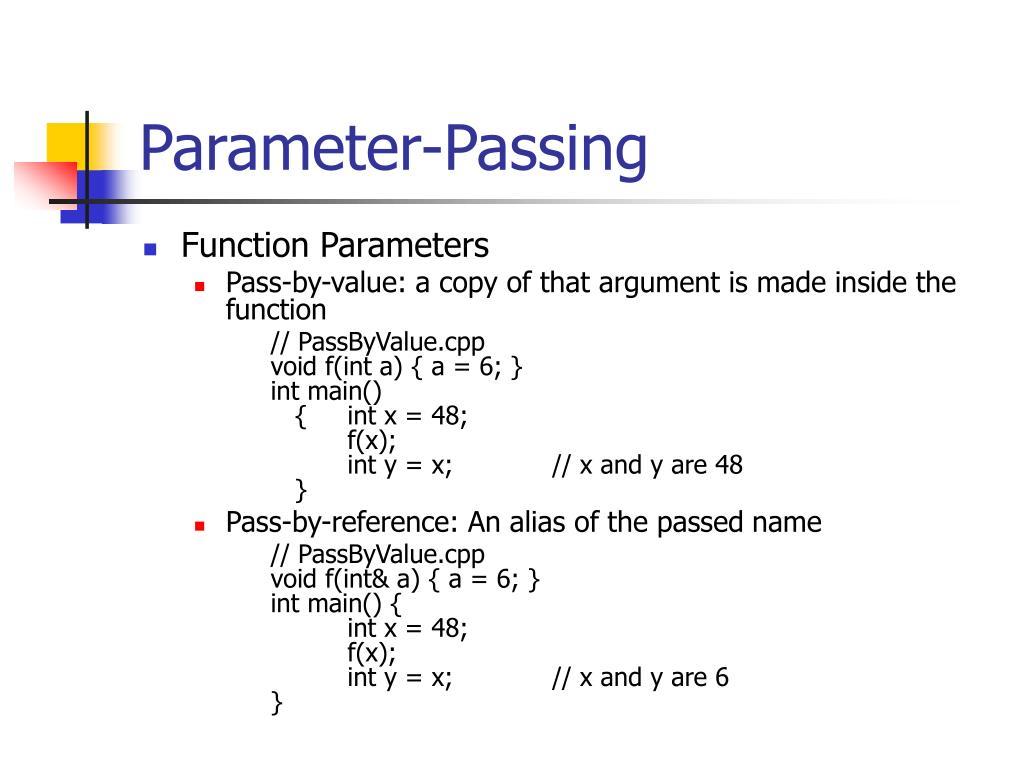 Parameter-Passing