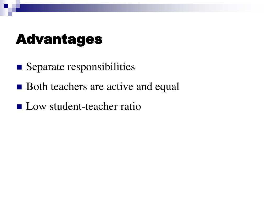 Advantages