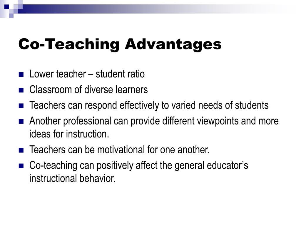Co-Teaching Advantages