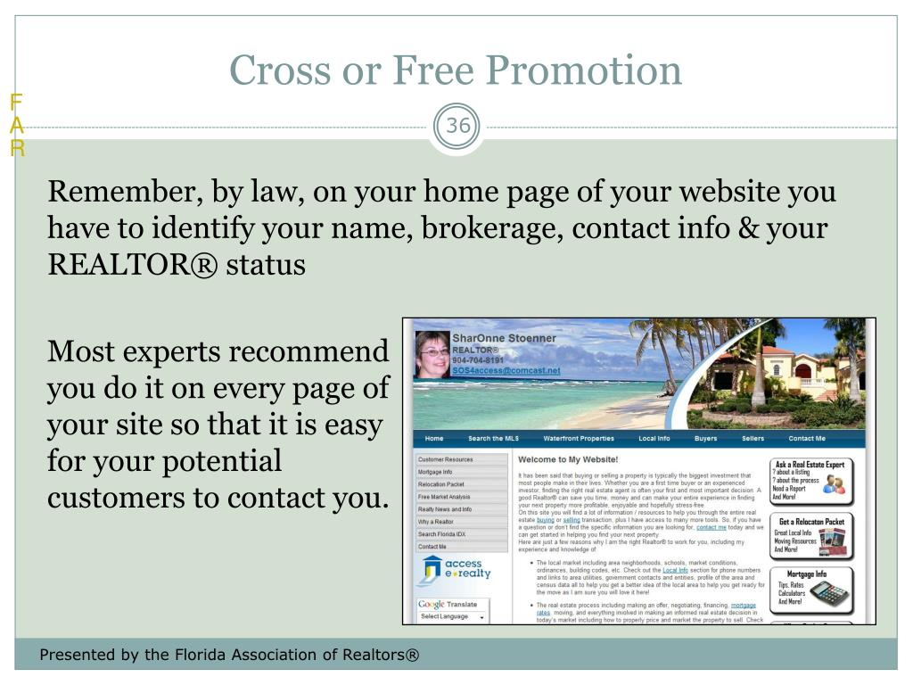 Cross or Free Promotion