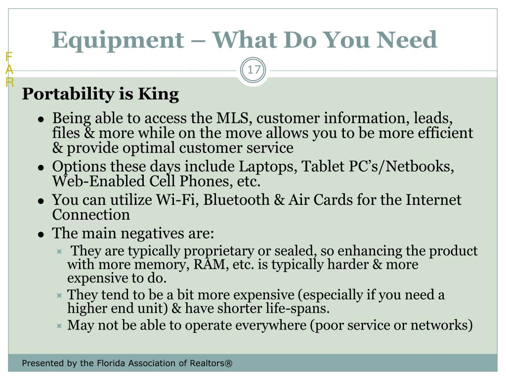 Equipment – What Do You Need