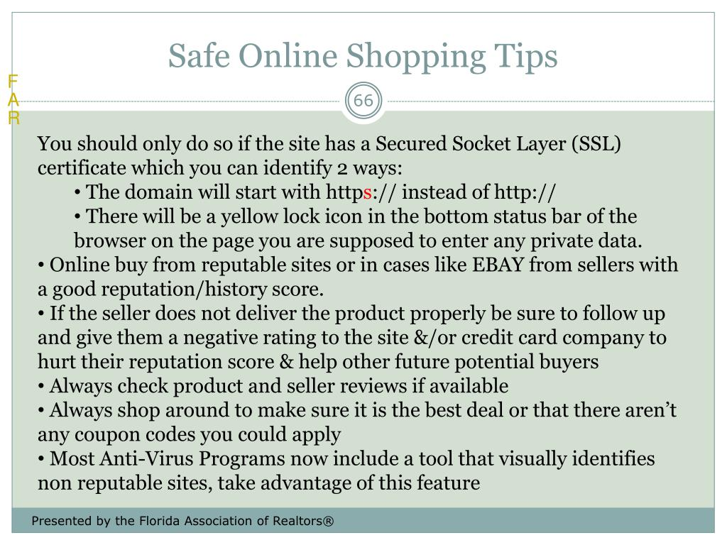 Safe Online Shopping Tips