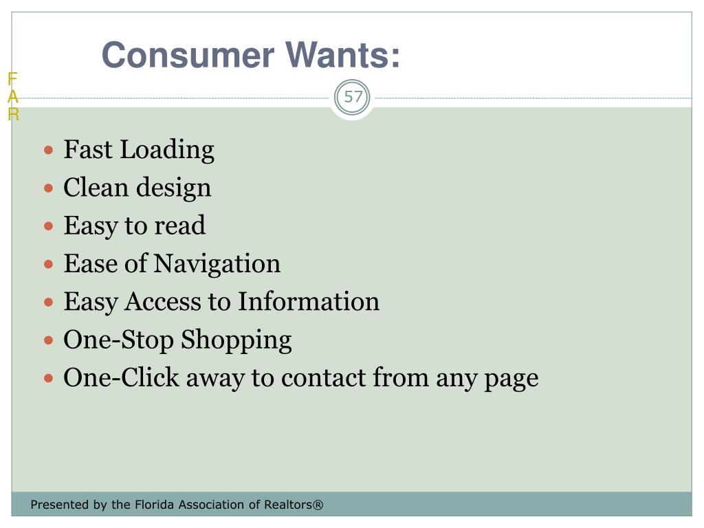 Consumer Wants: