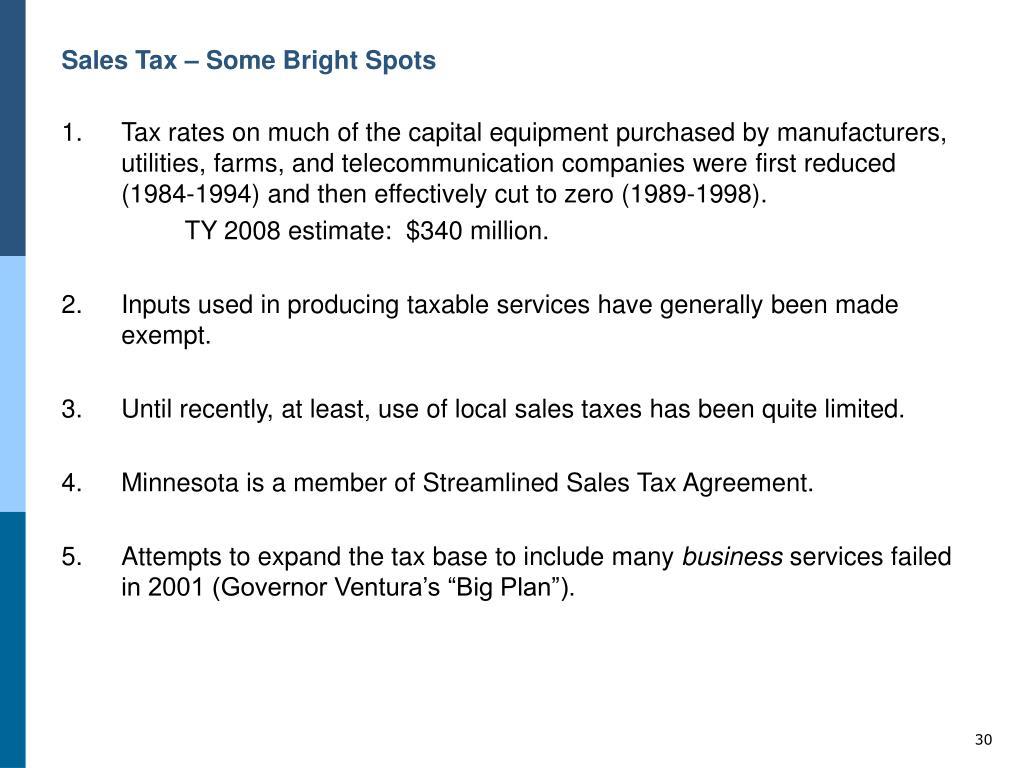 Sales Tax – Some Bright Spots