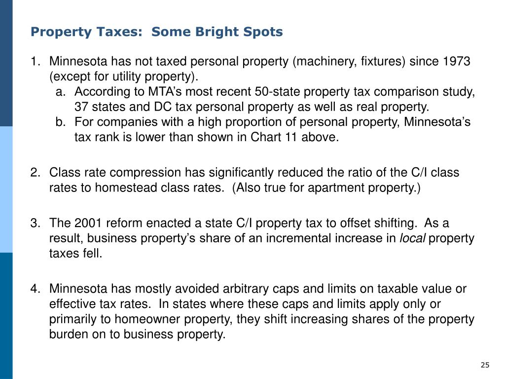 Property Taxes:  Some Bright Spots