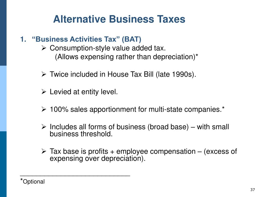 Alternative Business Taxes