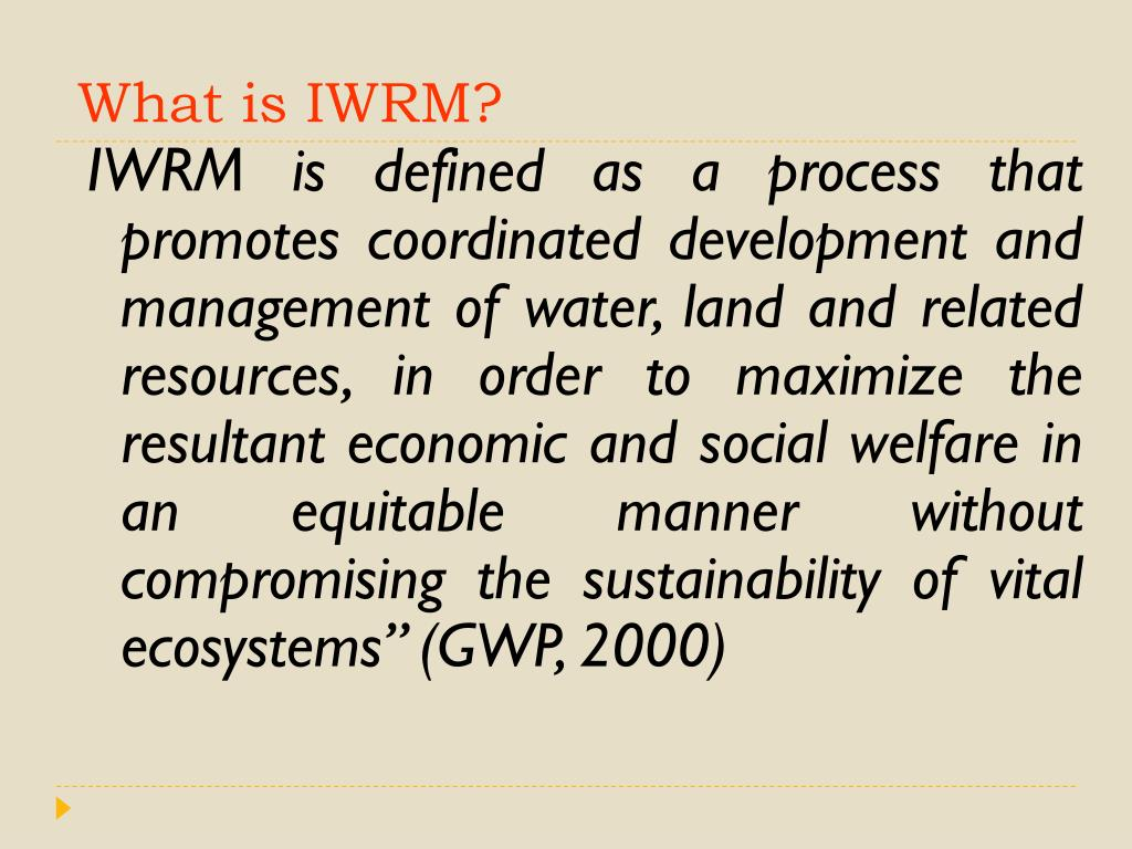 What is IWRM?