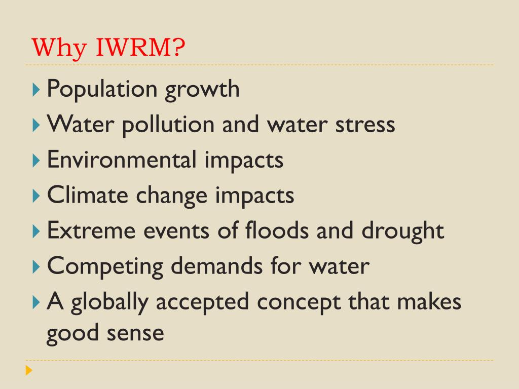 Why IWRM?