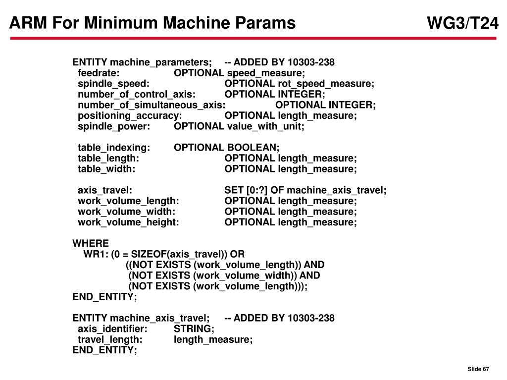 ARM For Minimum Machine Params