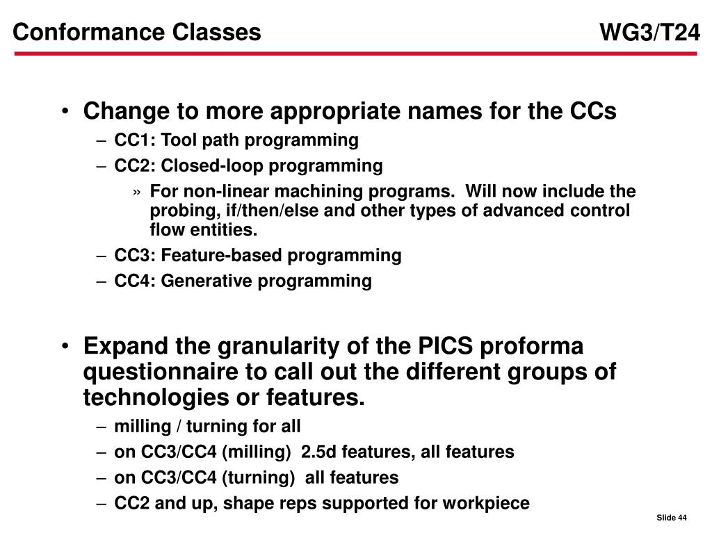 Conformance Classes