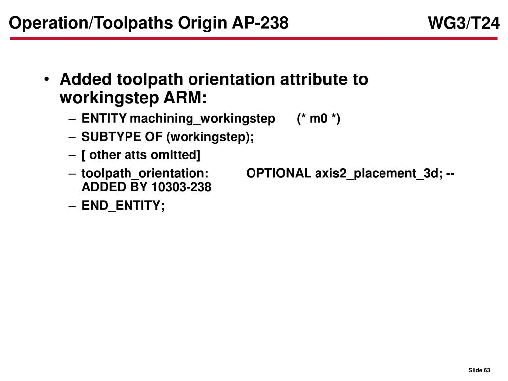 Operation/Toolpaths Origin AP-238