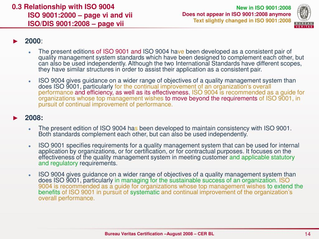 0.3 Relationship with ISO 9004