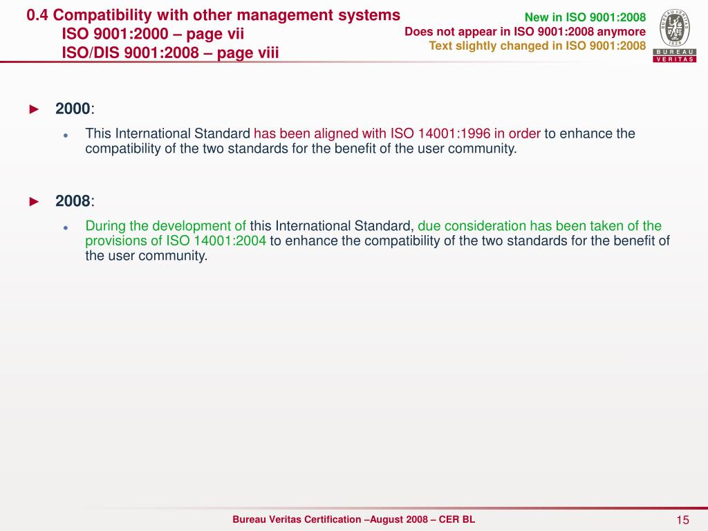 0.4 Compatibility with other management systems