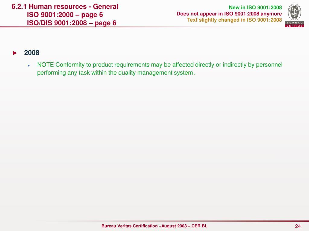 6.2.1 Human resources - General