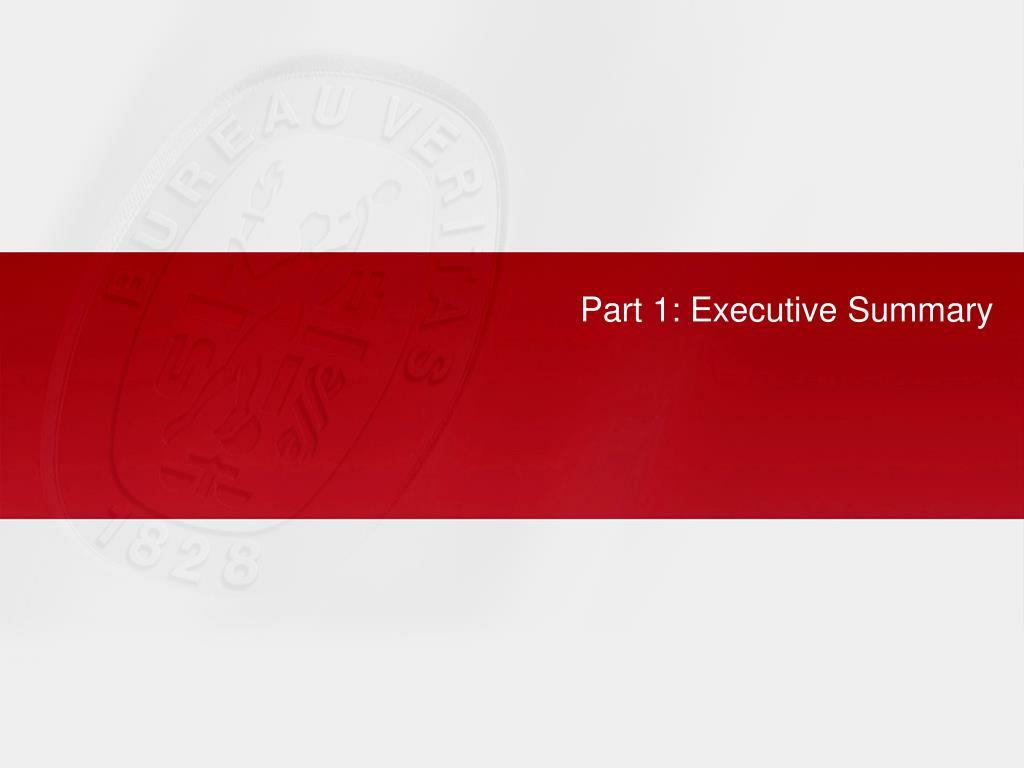 Part 1: Executive Summary