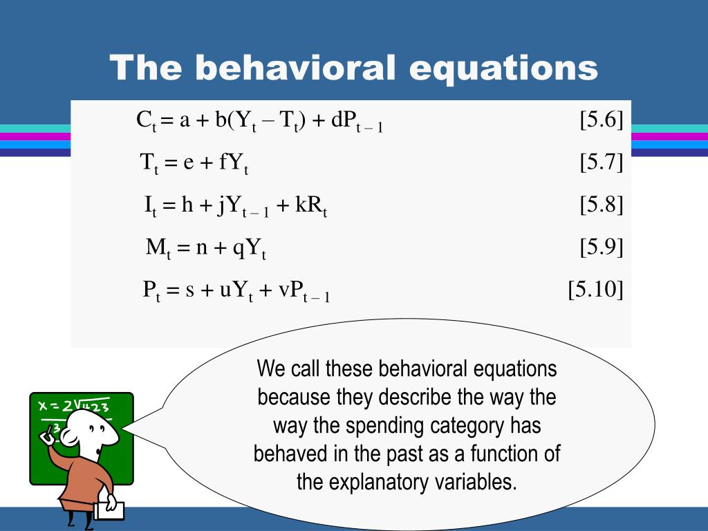The behavioral equations