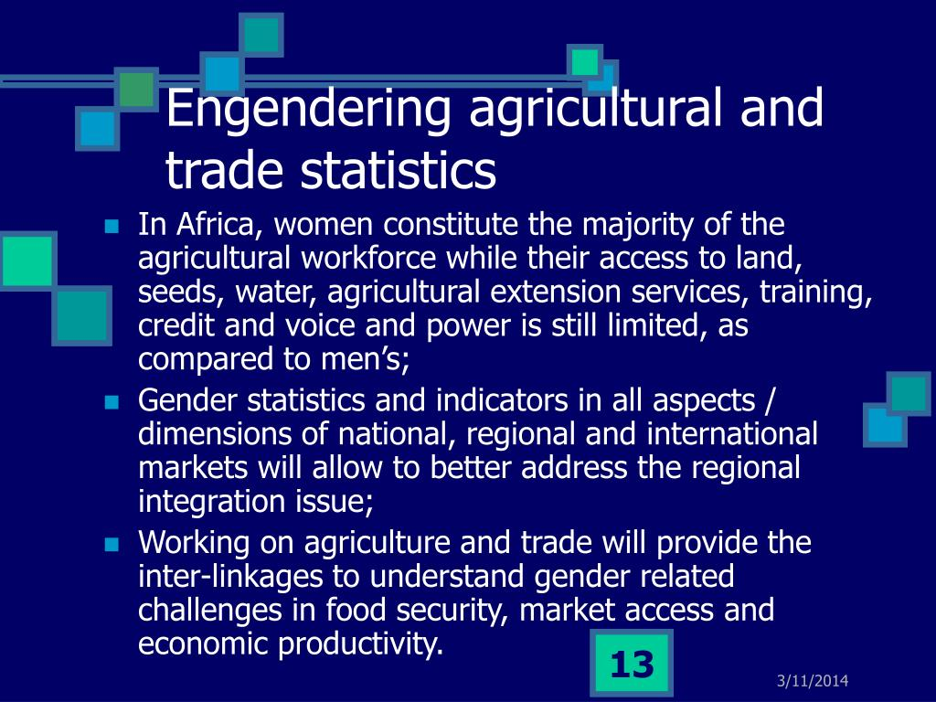 Engendering agricultural and trade statistics