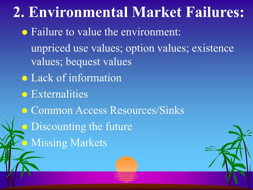2. Environmental Market Failures: